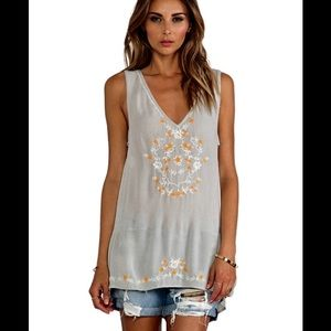 FREE PEOPLE Wild Strawberries Tunic Top Medium